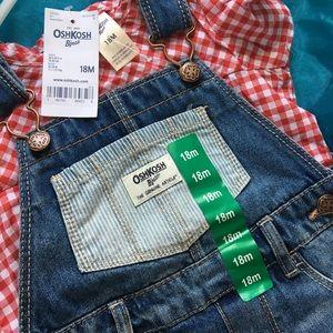 Osh kosh denim skirt overalls